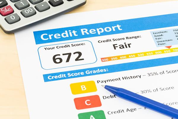 Credit score document paper sheet