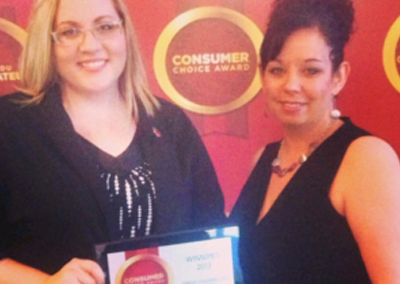 Credit Counselling Society and the NoMoreDebts.org team win 2013 Consumer Choice Award in Winnipeg, Manitoba