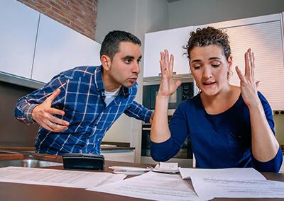 Couple Arguing About Finances