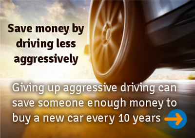 Giving up on aggressive driving can provide you with enough money to help with getting out of debt.