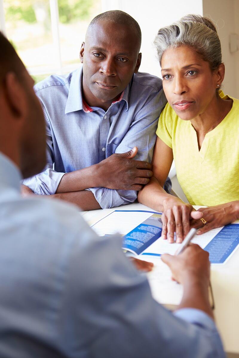 Woman Concerned About Cash Advance Interest Rate