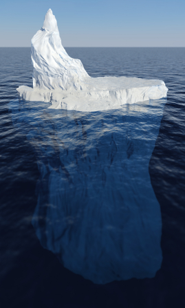 Fighting over money is like an iceberg. What you fight about is only what's seen on the surface.