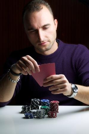 Betting to win, in debt from gambling.