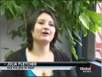 Canadian woman consolidates & pays off credit card debts without a loan with help from the Credit Counselling Society. See story on Global TV News.