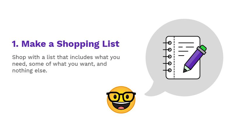 Make a Shopping List